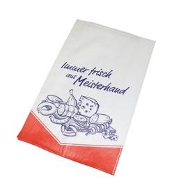 Faltenbeutel Immer Frisch aus Meisterhand 20x7x31cm weiß 40g (PACK=1000 STÜCK) Produktbild