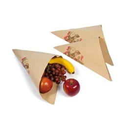Obstspitztüte Neutraldruck Obst macht fit 30cm 500g 60g braun (PACK=1000 STÜCK) Produktbild