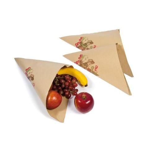 Obstspitztüte Neutraldruck Obst macht fit 30cm 500g 60g braun (PACK=1000 STÜCK) Produktbild Front View L