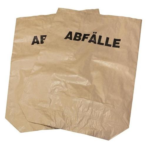 Papier Abfallsäcke mit Druck Abfälle 120l / 2-fach / 700x950mm / braun (PACK=25 STÜCK) Produktbild Front View L