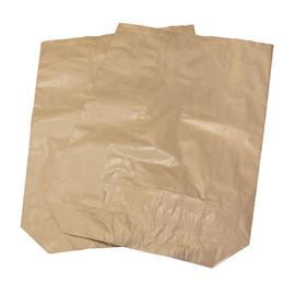Papier Abfallsäcke 3-fach 60x110cm 120l braun ohne Druck (PACK=25 STÜCK) Produktbild