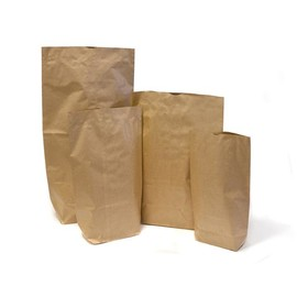 Bodenbeutel 28x45cm 5kg 70g 2-fach braun ungefädelt (PACK=250 STÜCK) Produktbild