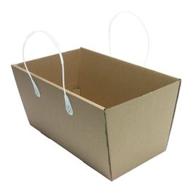 Wellpappe Einkaufskorb mit Tragegriffe 360x175x195mm / braun Produktbild
