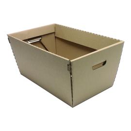 Wellpappe Einkaufskorb mit Grifflöchern 457x257x240mm / braun Produktbild