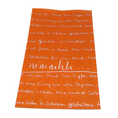 Warmhaltebeutel mmmhh L 18+7x36cm PP-beschichtet orange (KTN=250 STÜCK) Produktbild
