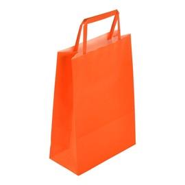 """Papiertragetaschen """"Standard-Color"""" 180+80x250mm 80g orange mit Flachhenkel (KTN=250 STÜCK) Produktbild"""