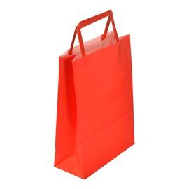"Papiertragetaschen ""Standard-color"" 180+80x250mm 80g rot mit Flachhenkel (KTN=250 STÜCK) Produktbild"