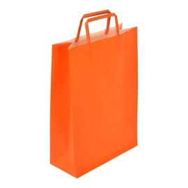 """Papiertragetaschen """"Standard-Color"""" 260+110x380mm 100g orange mit Flachhenkel (KTN=250 STÜCK) Produktbild"""