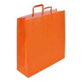 """Papiertragetaschen """"Standard-Color"""" 440+140x500mm 110g orange mit Flachhenkel (KTN=250 STÜCK) Produktbild"""