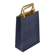"""Papiertragetaschen """"Standard-Recycled"""" 180+80x250mm 100g blau mit Flachhenkel (KTN=250 STÜCK) Produktbild"""