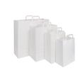 Papiertragetaschen 22x11x28cm 70g weiß Papierflachhenkel (KTN=250 STÜCK) Produktbild Additional View 1 S