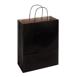 Papiertragetaschen Toptwist 24x11x31cm 100g Kraftpapier schwarz Papierkordel (KTN=150 STÜCK) Produktbild