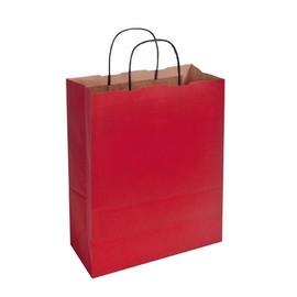 Papiertragetaschen Toptwist 24x11x31cm 100g Kraftpapier rot Papierkordel (KTN=150 STÜCK) Produktbild