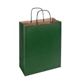 Papiertragetaschen Toptwist 24x11x31cm 100g Kraftpapier grün Papierkordel (KTN=150 STÜCK) Produktbild