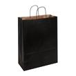 Papiertragetaschen Toptwist 32x14x42cm 100g Kraftpapier schwarz Papierkordel (KTN=150 STÜCK) Produktbild