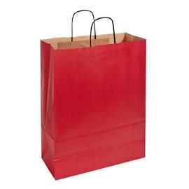 Papiertragetaschen Toptwist 32x14x42cm 100g Kraftpapier rot Papierkordel (KTN=150 STÜCK) Produktbild