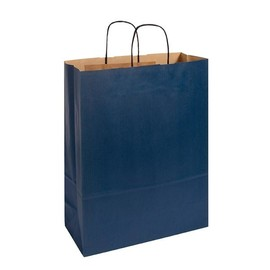 Papiertragetaschen Toptwist 32x14x42cm 100g Kraftpapier blau Papierkordel (KTN=150 STÜCK) Produktbild