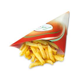 Pommes-Spitztüte Fresh & Tasty Papier 190x190mm (PACK=1000 STÜCK) Produktbild