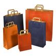 """Papiertragetaschen """"Standard-Recycled"""" 230+100x320mm 100g orange mit Flachhenkel (KTN=250 STÜCK) Produktbild Additional View 1 S"""