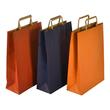 """Papiertragetaschen """"Standard-Recycled"""" 230+100x320mm 100g orange mit Flachhenkel (KTN=250 STÜCK) Produktbild Additional View 2 S"""