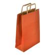 "Papiertragetaschen ""Standard-Recycled"" 230+100x320mm 100g rot mit Flachhenkel (KTN=250 STÜCK) Produktbild"