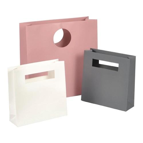 """Papiertragetaschen """"Avantgarde"""" 300+100x300mm 200g anthrazit matt mit ausgestanztem Griff (KTN=50 STÜCK) Produktbild Additional View 1 L"""