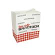 Snackbodenbeutel weiß Pergamentersatz 70 10,5+6x12cm Lass es dir snacken (KTN=1000 STÜCK) Produktbild