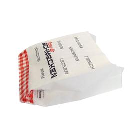 Snackbeutel weiß Pergamentersatz 40g 12+5x14cm Lass es dir schmecken (KTN=2000 STÜCK) Produktbild