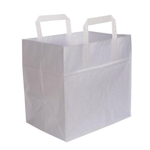 Tortentragetasche ohne Druck 26x17x24cm weiß (KTN=250 STÜCK) Produktbild Front View L
