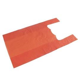 HDPE Hemdchentasche Jumbo geblockt 30x18x55cm 12my orange (PACK=200 STÜCK) Produktbild