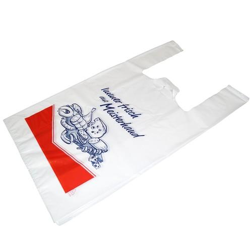 Hemdchentasche 27x14x47cm 20my weiß Immer Frisch aus Meisterhand (KTN=1000 STÜCK) Produktbild Front View L