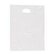 ND Flachbeutel mit Griffloch geblockt 25x35cm 15my weiß (PACK=500 STÜCK) Produktbild