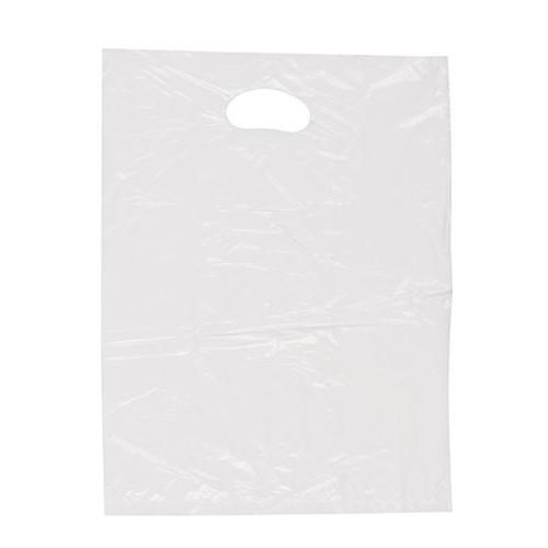 ND Flachbeutel mit Griffloch geblockt 25x35cm 15my weiß (PACK=500 STÜCK) Produktbild Front View L