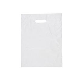 HDPE Flachbeutel mit Griffloch geblockt 30x40cm 20my weiß (KTN=1000 STÜCK) Produktbild