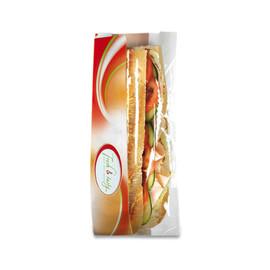 Sichtstreifenbeutel Fresh & Tasty Halb + Halb 140x60x320mm (PACK=1000 STÜCK) Produktbild