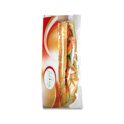 Sichtstreifenbeutel Fresh & Tasty Halb + Halb 140x60x320mm (PACK=1000 STÜCK) Produktbild Front View L