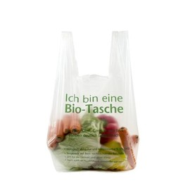 Obstknotenbeutel biologisch abbaubar und kompostierbar 230+150x490mm (Rll à150St) (KTN=1500 STÜCK) Produktbild