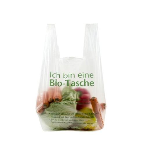 Obstknotenbeutel biologisch abbaubar und kompostierbar 230+150x490mm (Rll à150St) (KTN=1500 STÜCK) Produktbild Front View L
