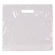 PE Grifflochtragetasche mit Bodenfalte 34x35x10cm 40my weiß (KTN=500 STÜCK) Produktbild