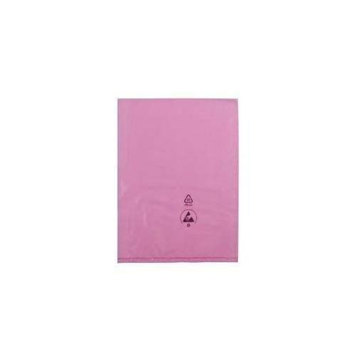 LDPE Flachbeutel rosa antistatisch / 300 x 400mm / 50µ mit Warndruck Produktbild Additional View 1 L