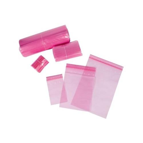 LDPE Druckverschlussbeutel rosa 80 x 120mm / 80µ / MINIGRIP/antistatisch (KTN=1000 STÜCK) Produktbild Additional View 3 L