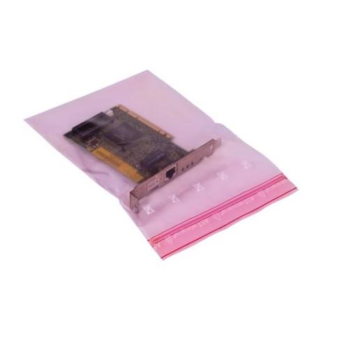 LDPE Druckverschlussbeutel rosa 150 x 220mm / 80µ /MINIGRIP/antistatisch (KTN=1000 STÜCK) Produktbild Additional View 3 L
