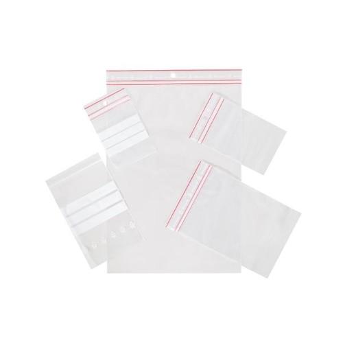 LDPE Druckverschlussbeutel transparent 120 x 180mm / 60µ / MINIGRIP/Stempelfeld (KTN=1000 STÜCK) Produktbild Additional View 1 L