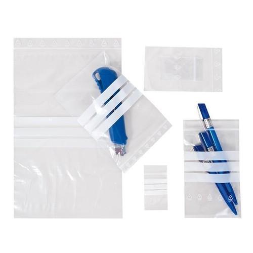 LDPE Druckverschlussbeutel transparent 160 x 220mm / 50µ / Stempelfeld (KTN=1000 STÜCK) Produktbild Additional View 2 L