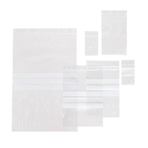 LDPE Druckverschlussbeutel transparent 160 x 220mm / 50µ / Stempelfeld (KTN=1000 STÜCK) Produktbild Additional View 1 L
