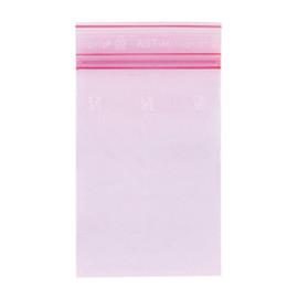 LDPE Druckverschlussbeutel rosa 220 x 320mm / 80µ /MINIGRIP/antistatisch (KTN=1000 STÜCK) Produktbild