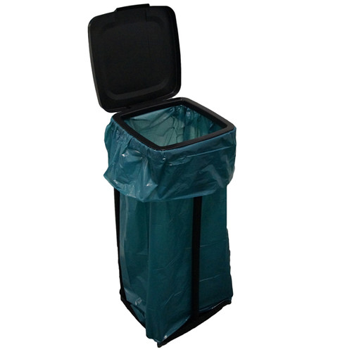 Müllsackständer für bis 120l Säcke / schwarz / Kunststoff Produktbild Additional View 1 L