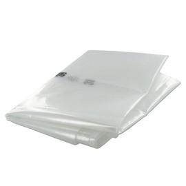 Müllsäcke 240l / 80µ / 650+550x1350mm / transparent / LDPE /  Standard (KTN=100 STÜCK) Produktbild