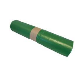 Müllsäcke 120l / 35µ / 700x1100mm / grün / LDPE / Standard Typ60 (RLL=25 STÜCK) Produktbild