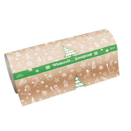Rollenpapier Winterzeit 50cm / 35g / braun Produktbild